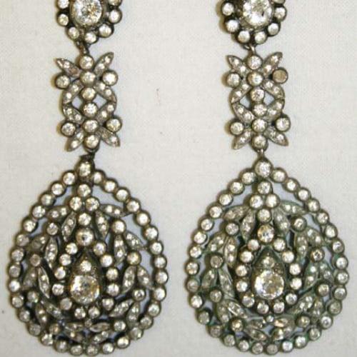 18th century diamond earrings