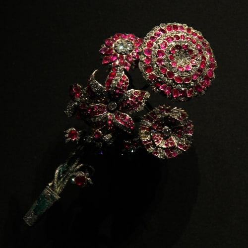 18th century ruby brooch
