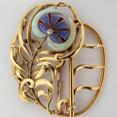 art nouveau brooch 1800s