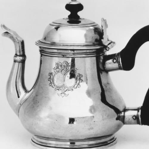 French silver teapot