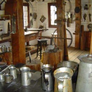 tinsmith shop interior