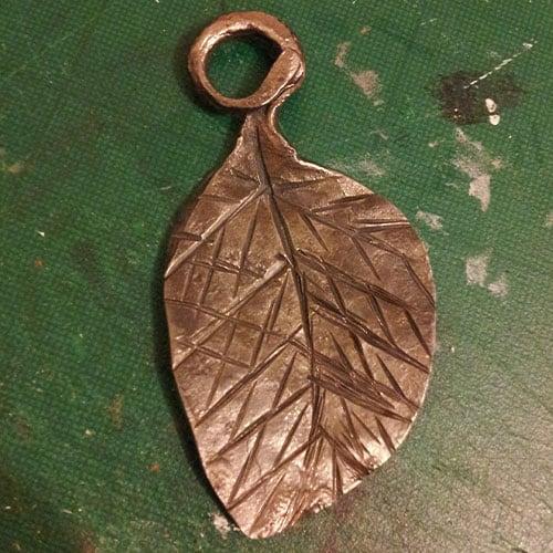 blacksmith forged leaf