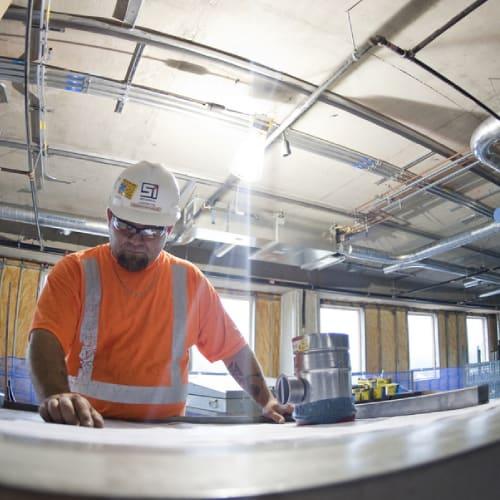 sheet metal worker at plant