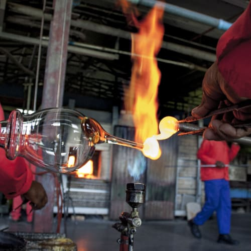 glass blowing risks
