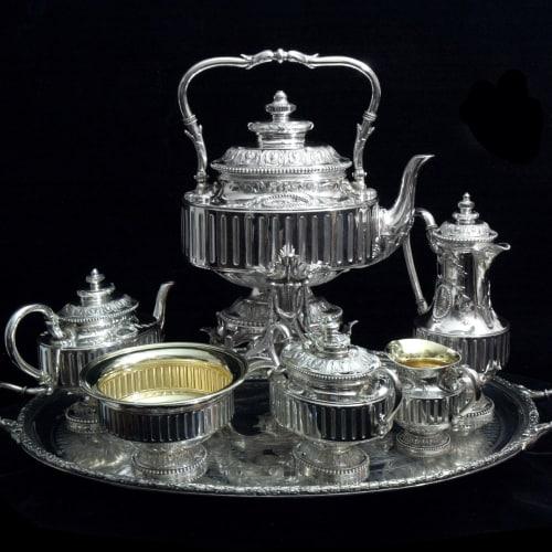 european silver setting