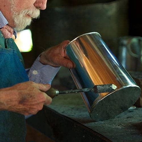 tinsmith at work