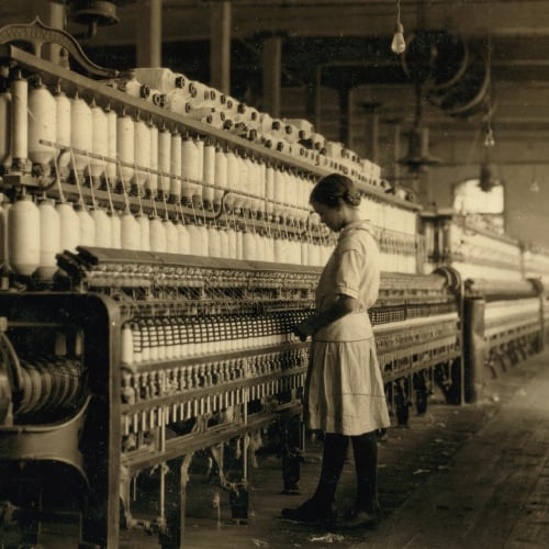 1800s textile worker
